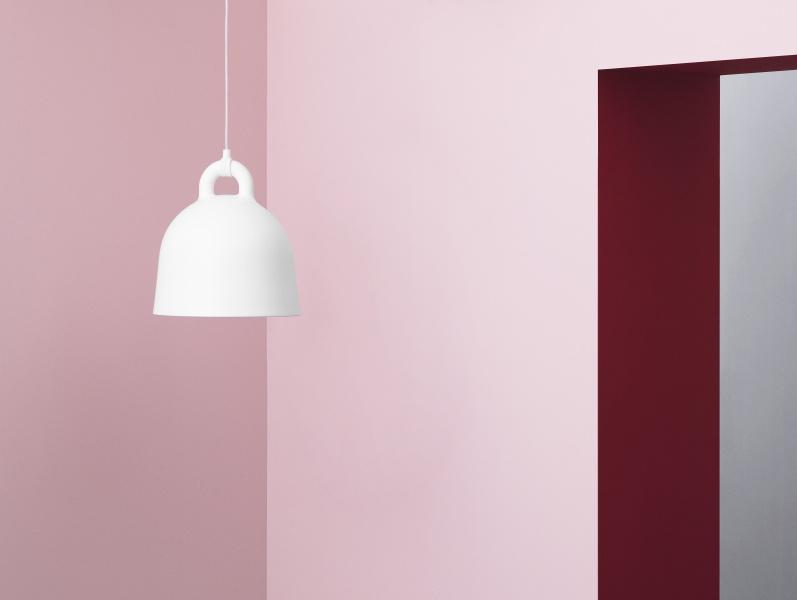 normann copenhagen bell lampe small hvit. Black Bedroom Furniture Sets. Home Design Ideas